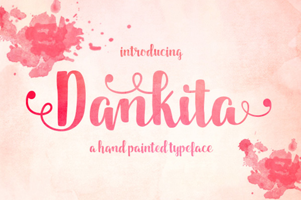 Dankita is a beautiful hand painted script