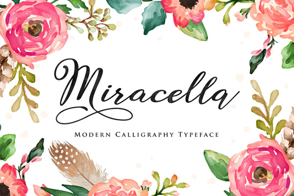 Miracella Script is a new handwritten stylish
