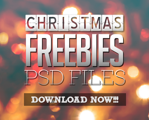 Christmas Freebies (26 Photoshop Free PSD Files)