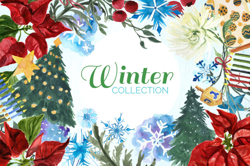 This huge winter collection has everything you need to create those awesome wintery designs