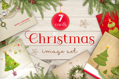 wonderful pack includes seven sweet and joyful Christmas designs