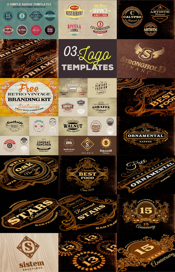 Free 84 logo, badge or frame branding templates