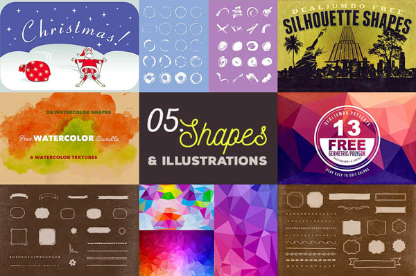 Free cool handdrawn shapes, illustrations & backgrounds