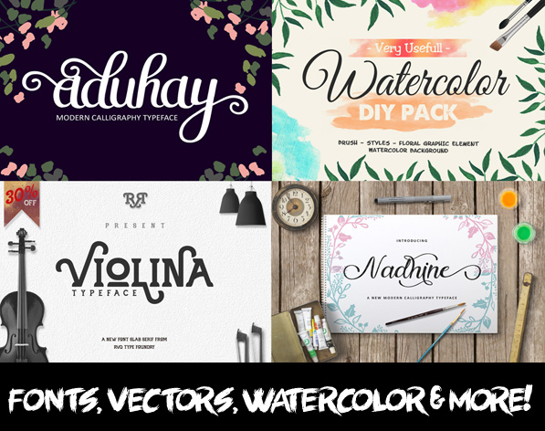 Best Fonts and Vector Graphics Bundle for Designers