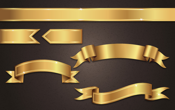 How to Create Golden Ribbon Banner Vectors in Adobe Illustrator Tutorial