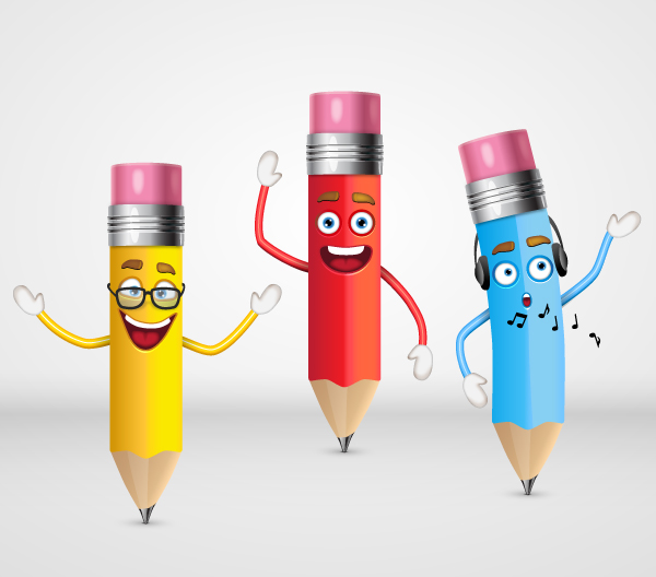 How to Create a Trio of Cute Pencil Characters in Adobe Illustrator