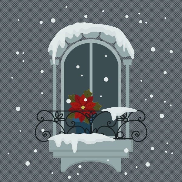 How to Create a Snowy Window Scene in Adobe Illustrator
