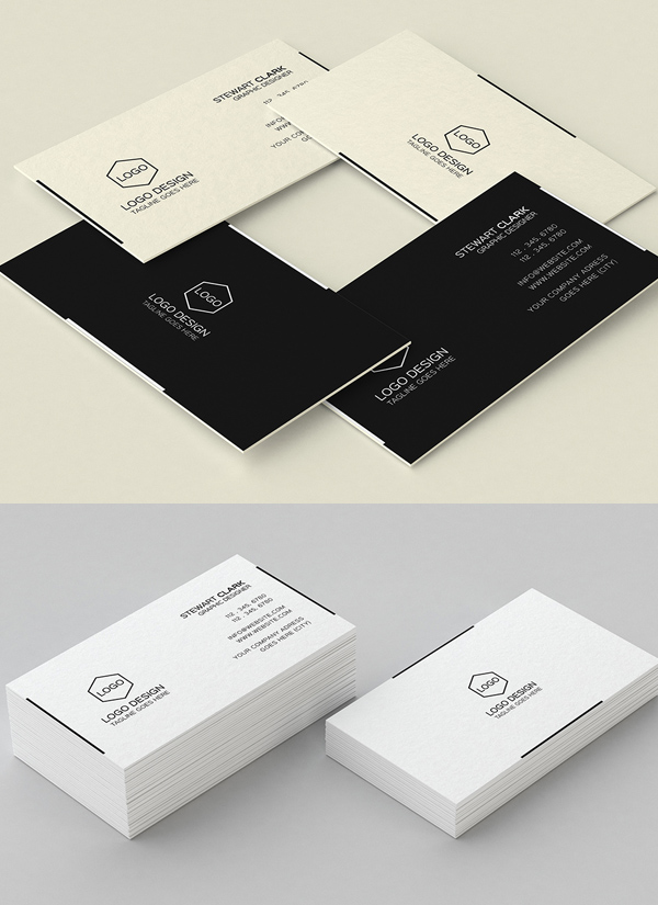 Modern business cards design 26 creative examples design simple minimal business card design fbccfo