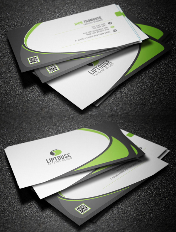 Modern business cards design 26 creative examples design corporate business card fbccfo Image collections