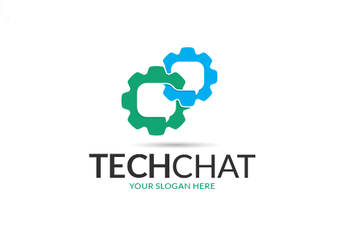 Tech Chat Logo Template