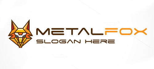 Metal Fox Logo Template