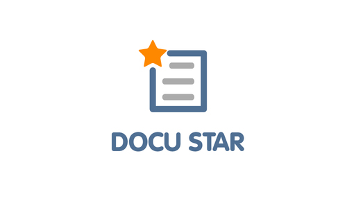 Docu Star Logo design Template