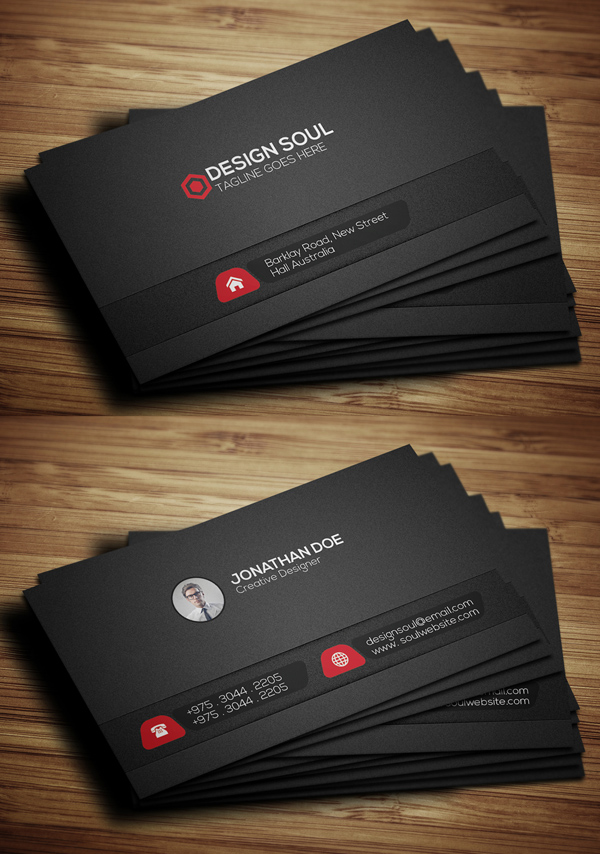 Black Corporative Business Card