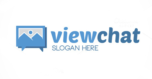 Viewchat Logo Template