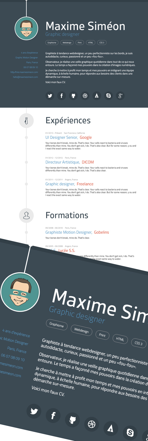 Free CV Resume Templates And Mockups  Graphic Designers Resume