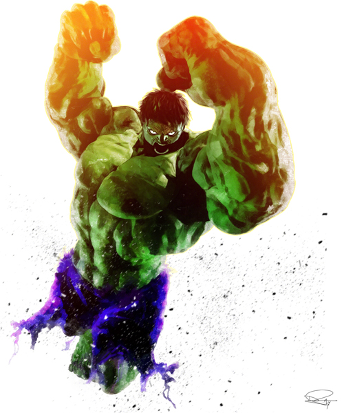 Hulk SMASH Illustration by Daniel Murray