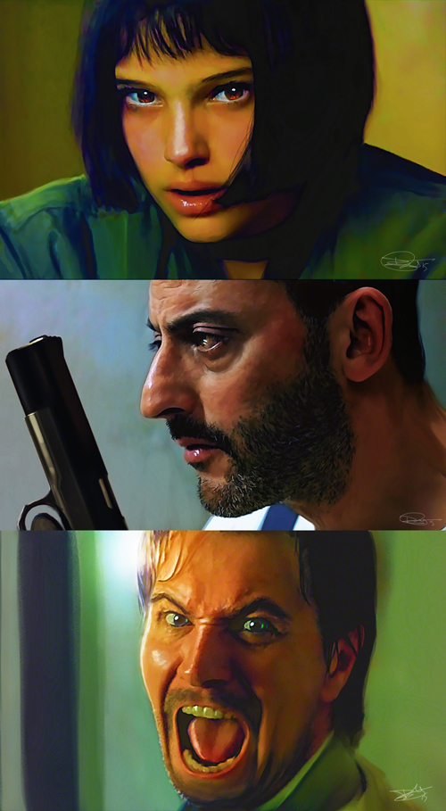 Leon The Professional Illustration by Daniel Murray