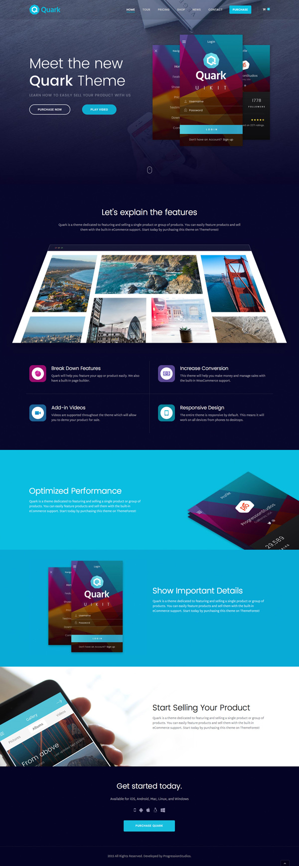 Quark - Single Product eCommerce Theme