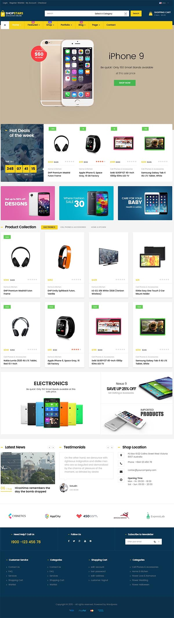 ShopStars - Multipurposes WooCommerce Theme