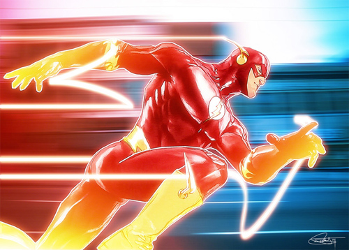 The Flash Illustration by Daniel Murray