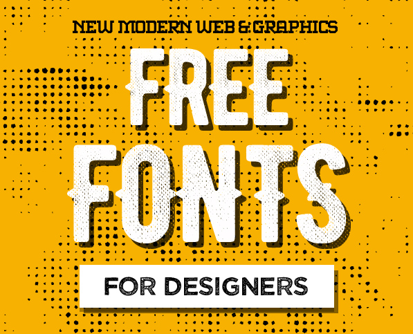 16 New Free Fonts for Designers