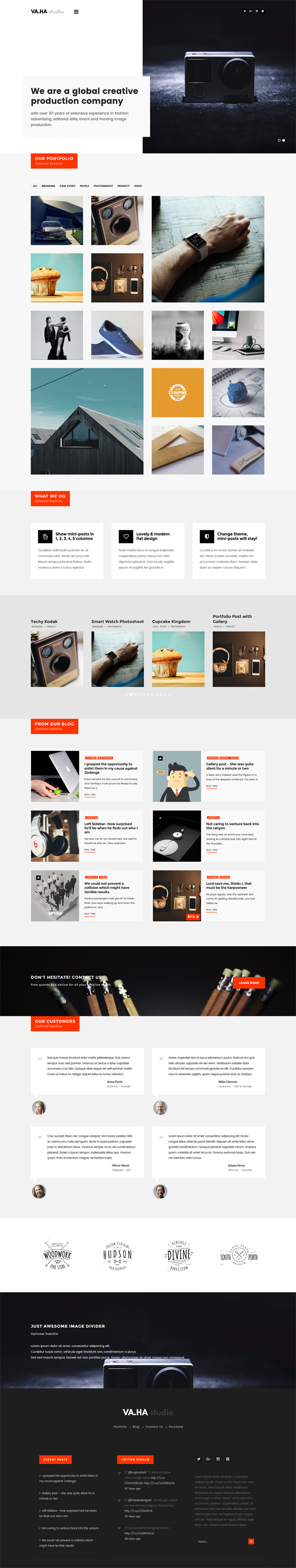 VaHa - Agency / Portfolio / Studio WordPress Theme