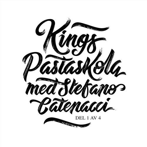Lettering vignette for King Magazine (black) handwriting lettering