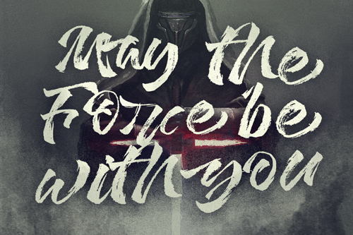 May the force be with you handwriting lettering