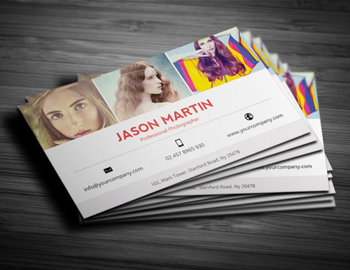 Photography business card templates design graphic design junction photography business card design 16 friedricerecipe Images