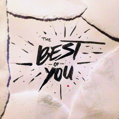 The Best of You handwriting lettering