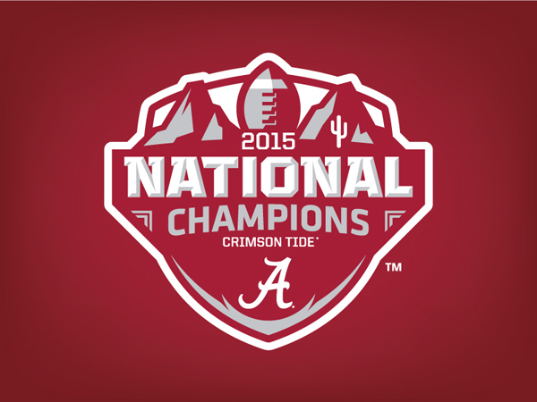 Alabama 2015 National Champions Logo Concept