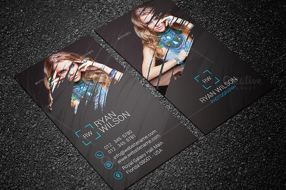 Photography business card templates design graphic design junction photography business card design 20 reheart Images