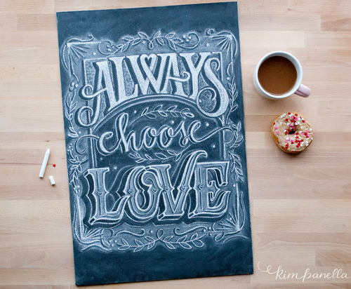 Choose Love handwriting lettering