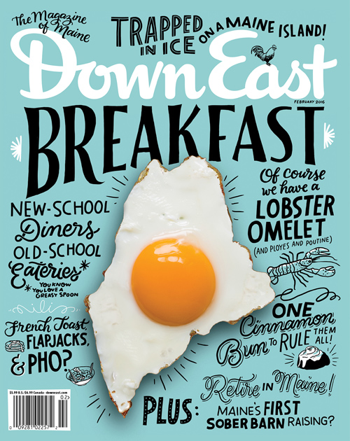 Down East Magazine handwriting lettering