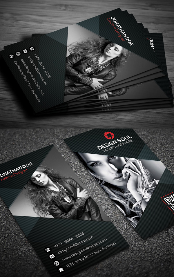 Photography business card templates design graphic design junction photography business card design 2 flashek