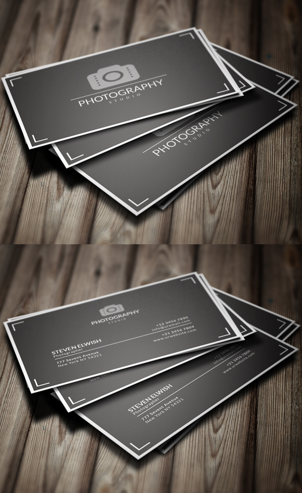 Photography Business Card Templates | Design | Graphic Design Junction