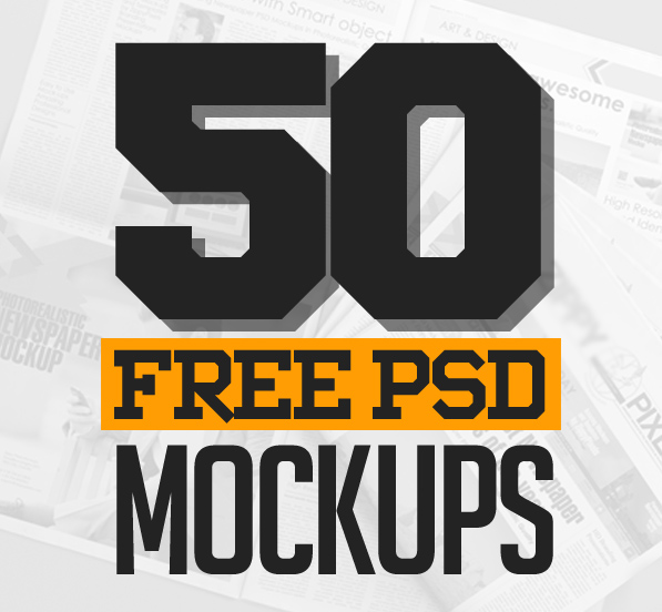 50 Best Free PSD Mockup Templates