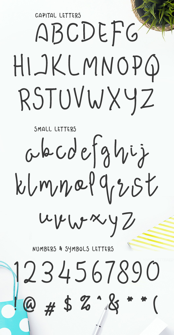 Awesome Darling Font Letters