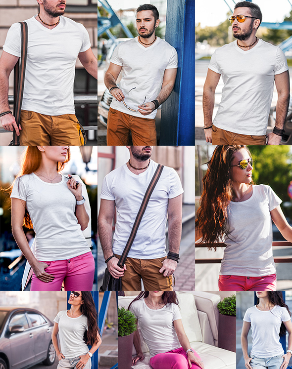 Free T-Shirt Fashion Mock-Up
