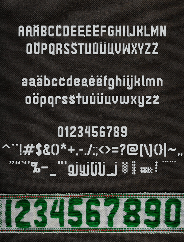 Janinos Juosta Font Letters