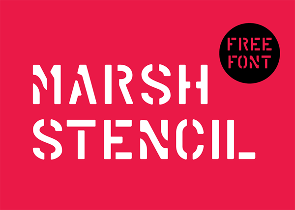 Free Stencil Fonts | Fonts | Graphic Design Junction