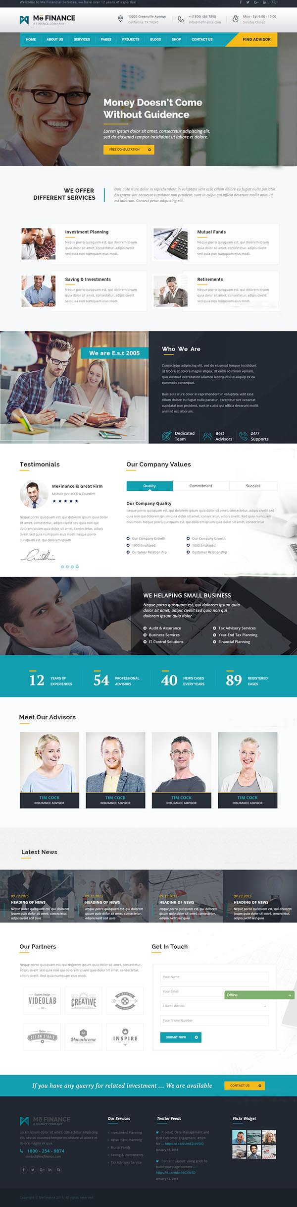 Me Finance - Business and Finance HTML Template