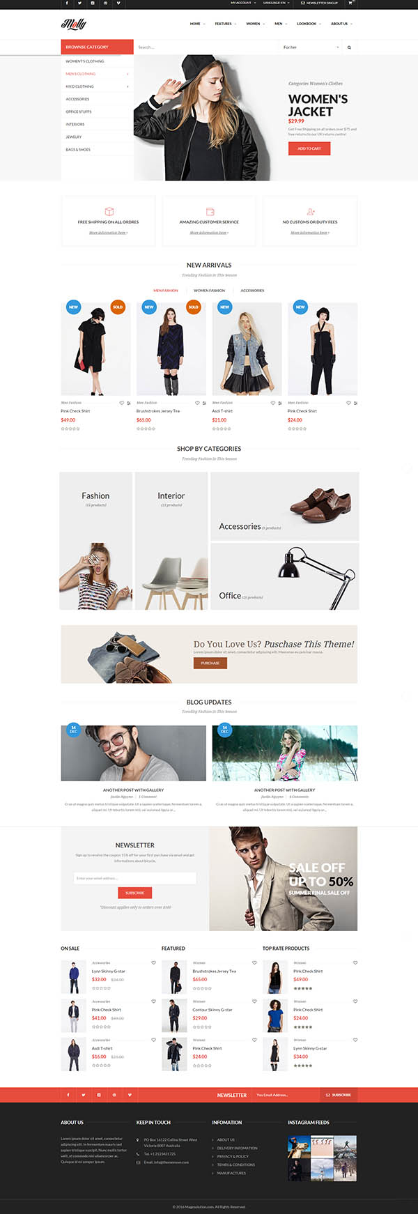 Molly - Elegant & Clean Multipurpose Magento Theme