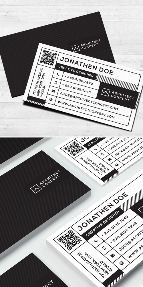 Modern studio business card
