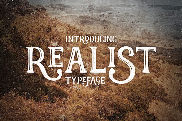 Realist handcrafted typeface