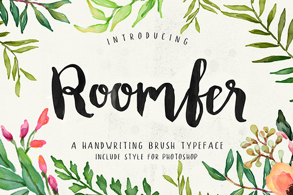 Roomfer bold handwriting brush font