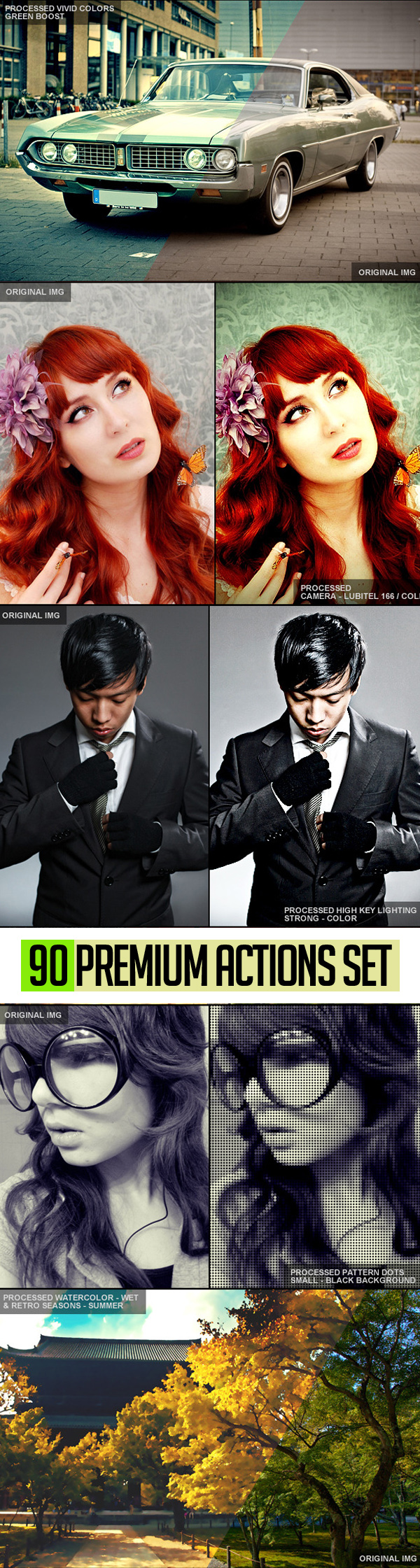 90 Premium Photoshop Actions Set