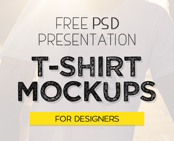 Free 40 Best T-Shirt Mockup PSD Templates