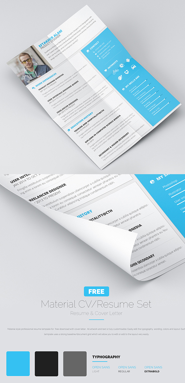 free resume cv cover letter design - Free Cover Letter For Resume Template