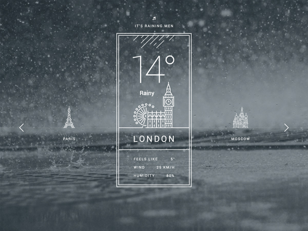 Free Weather UI PSD Design